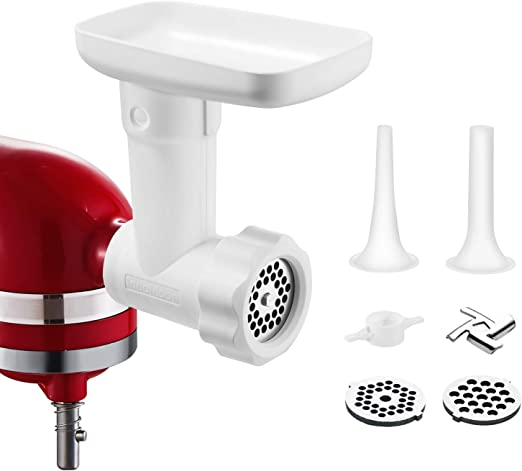 Food Grinder Attachment for Kitchenaid Stand Mixers, as Meat Mincer  Accessory including Sausage Stuffer Tubes - Amazon Vine