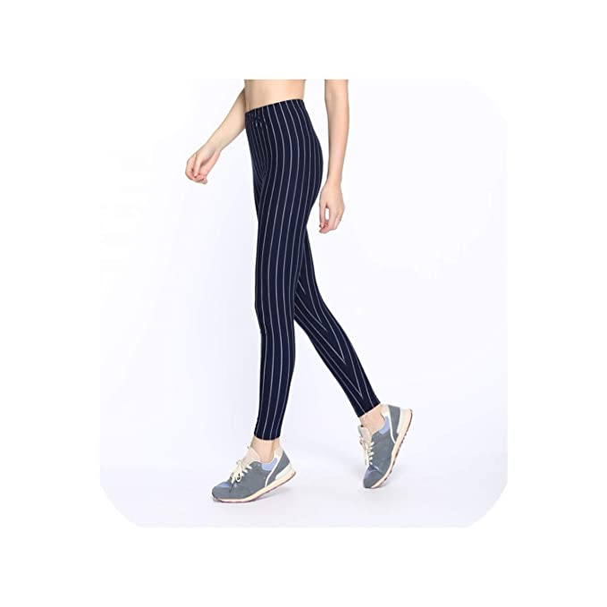 Female Fitness Leggings Women Spring Fall Print Striped ...