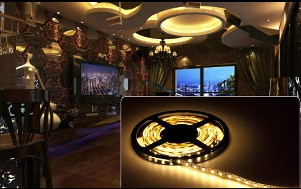 30m-Pack LED Flexible Strip Lights - Waterproof Led Tape Ribbon Lights - Warm White LED Lights SMD5050 60leds /m 5m/roll for Christmas Holiday Home Kitchen