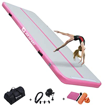 13Ft Air Track Floor Tumbling Inflatable Gym Mat 8in Thick Water Sport Floor Pad