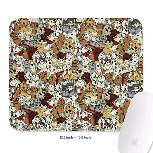 All Kinds of Dogs Family Game Office Mouse Pad 10.5