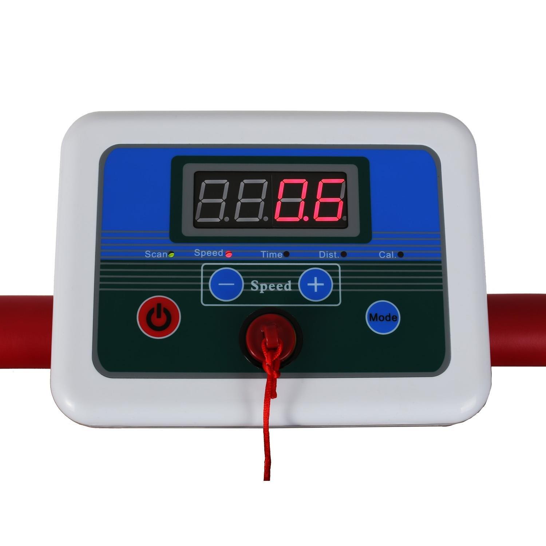 Various Colours Heart Rate Monitor, Integrated Calorie Consumption, Non-Slip Surface Klarfit Treado Basic Foldable Mechanical Treadmill Training Computer
