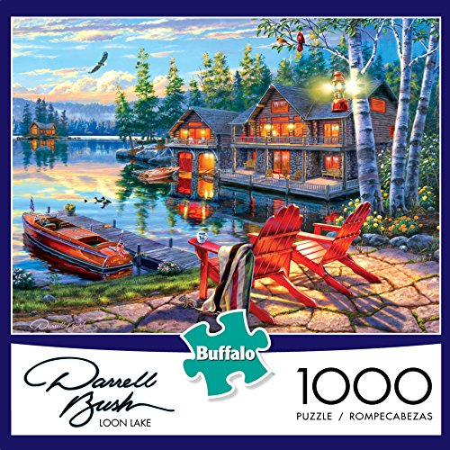 Buffalo Games Darrell Bush Loon Lake 1000 Piece Jigsaw Puzzle Toy In The Uae See Prices