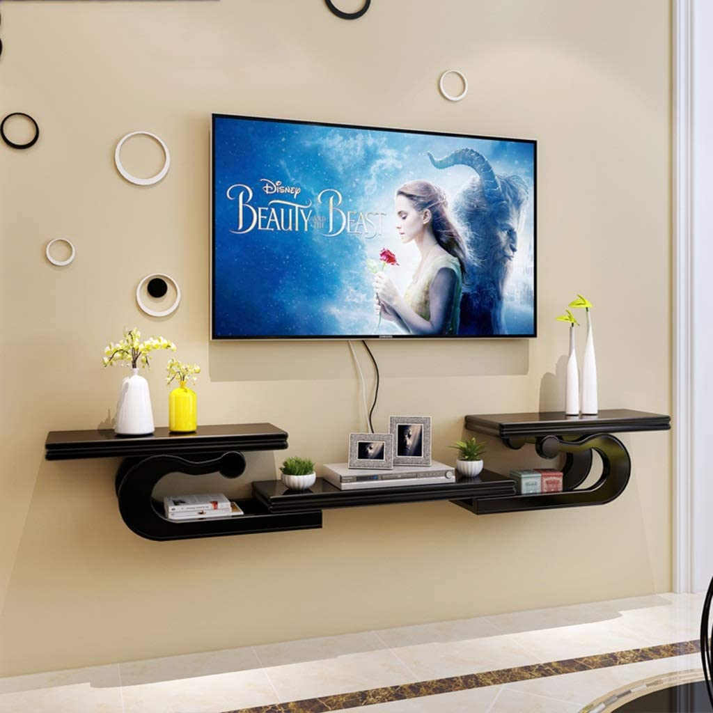 Floating Shelf Wall Mounted Floating Audio Video Console Tv Cabinet Multimedia Console Tv Shelf Tv Stand Open Storage Shelves Component Shelf Living Room Furniture Amazon Co Uk Kitchen Home