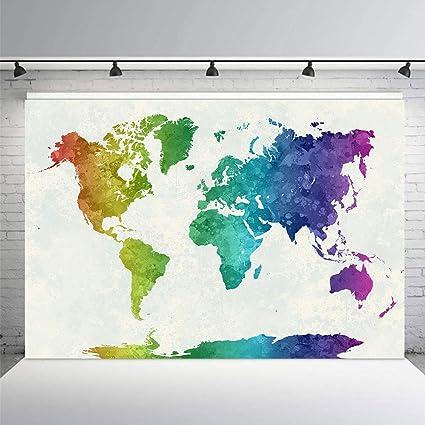 Weltkarte Weltraumhintergrund Weltweiter Berühmter Kamera