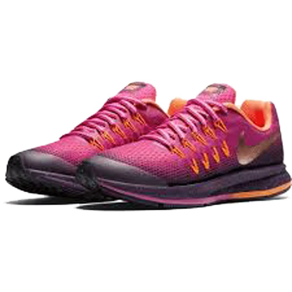 Nike Zoom Pegasus 33 Shield (Grade School) Running Shoes (6 Big Kid M, Fire PinkMetallic Red Bronze) …