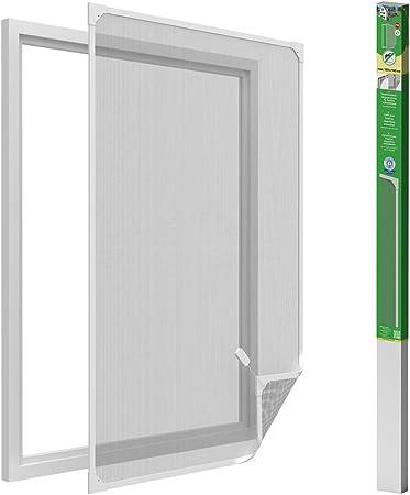 easy life Mosquitera para ventanas con cuadro magnético en PVC fácil de instalar - Sin necesidad de perforar y acortable individualmente, Color:Blanco, Talla:120 x 140 cm: Amazon.es: Hogar