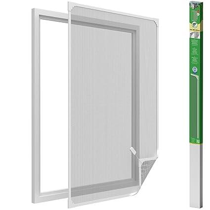 easy life Mosquitera para ventanas con cuadro magnético en PVC fácil de instalar - Sin necesidad de perforar y acortable individualmente, ...