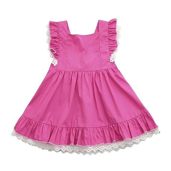Vestidos Niña Bebe, FAMILIZO Vestidos Bebe Niña Verano Vestido De Fiesta Vestidos Niña Verano Manga