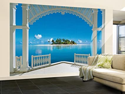 Amazoncom 100x144 A Perfect Day Balcony Huge Wall Mural Art