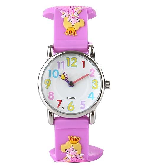 Reloj para niños, resistente al agua, digital 3D dinosaurio, reloj analógico de cuarzo, reloj deportivo con tiempo para niñas y niños: Amazon.es: Relojes