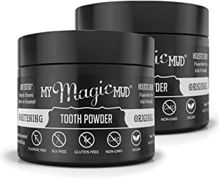 product image for My Magic Mud - Whitening Tooth Powder, Polishing, Brightening, Charcoal, Original, 1.06 oz. (2-Pack)