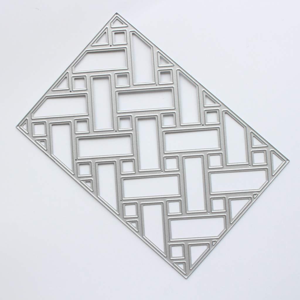 Embossing Craft Decor for Home Lattice Metal Stencil DIY Scrapbooking Album Card puhoon Cutting Dies