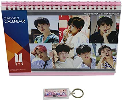 Bts Bangtan Boys Desk Calendar With Photo Card With Key Ring And