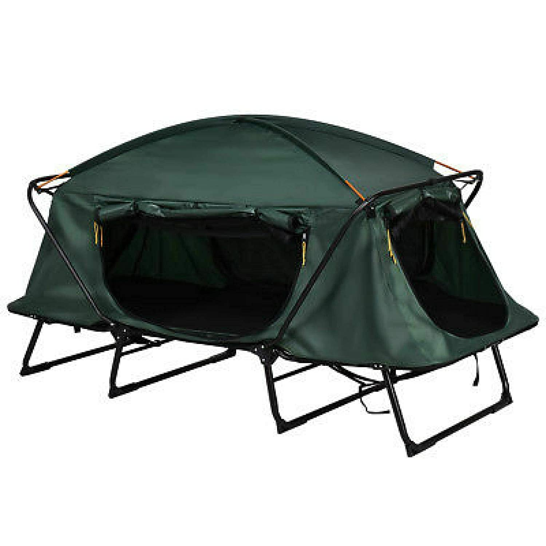Boomer888 折りたたみ式 1人用 上昇 グリーン キャンピング テント 軽量 アルミニウム フレーム コット 防水 ハイキング アウトドア キャリーバッグ付き ポータブル 折りたたみ式 エアマットレスバッグ用 容量 275ポンド