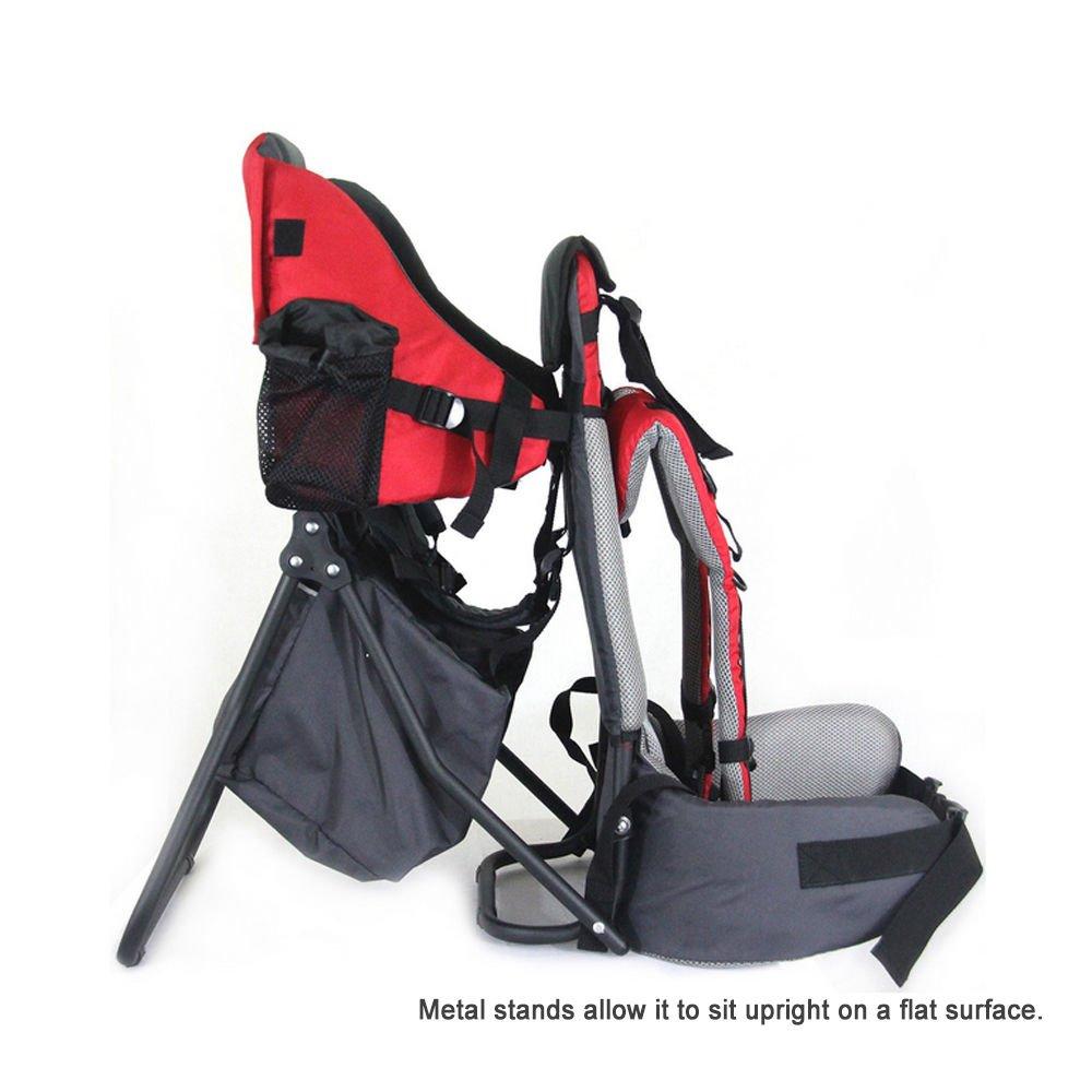692d978324f8 Pawsfiesta Porte bébé support dorsal pour lenfant pour les randonnées et  lexcursion Couleur:rouge