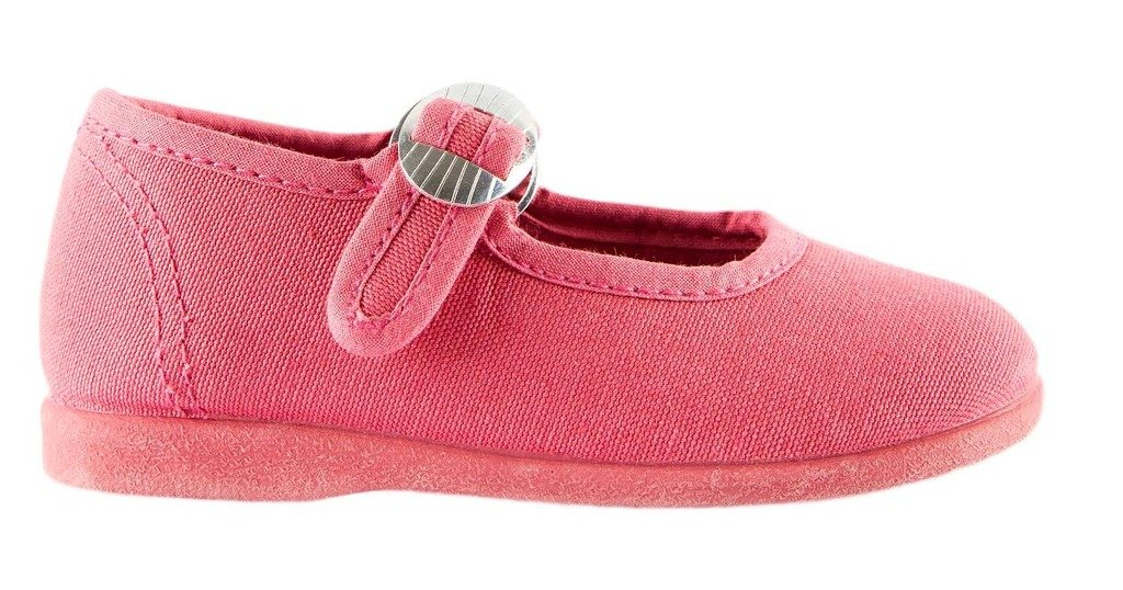 Namoo Kids Canvas Mary Jane, Cotton and Rubber Sole, Baby/Toddler/Kid Shoe (Strawberry) by Namoo (Image #1)