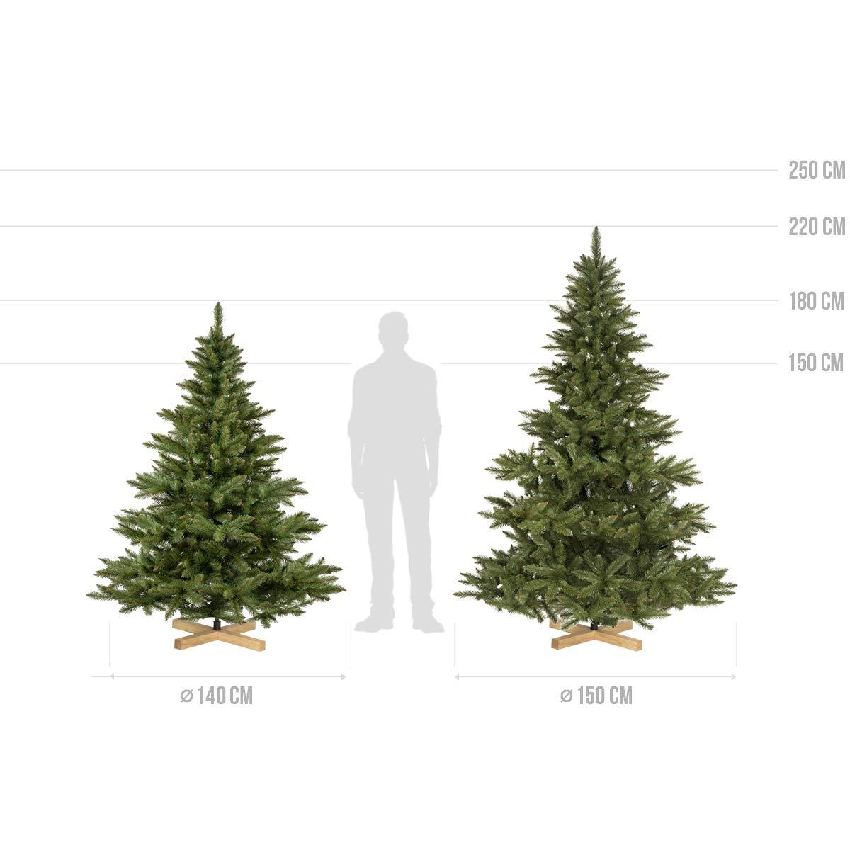 FairyTrees Artificial Árbol de Navidad Abeto NORDMANN, el Tronco ...