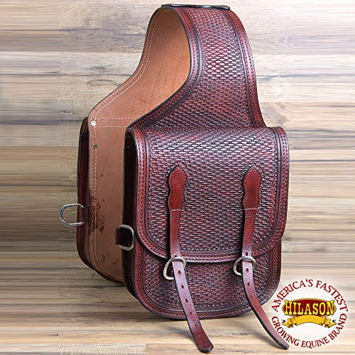HILASON Bg106M-F Western Leather Cowboy Trail Ride Horse Saddle Bag