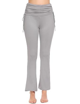 368a4661413aa3 Lucyme Jogginghose Damen Casual Straight-Bein-Hose mit Tunnelzug für Yoga  und Jogger,