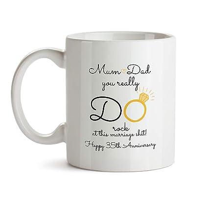 Amazon 35th Wedding Anniversary Gift Mug Bb21 Mum And Dad You