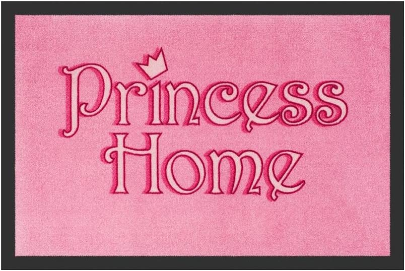 Felpudo–Princess Home | Felpudo divertido | Alfombrilla para Puerta con mensaje | Felpudo Entrada Rango | regalo para mujeres | Precio en el palo®