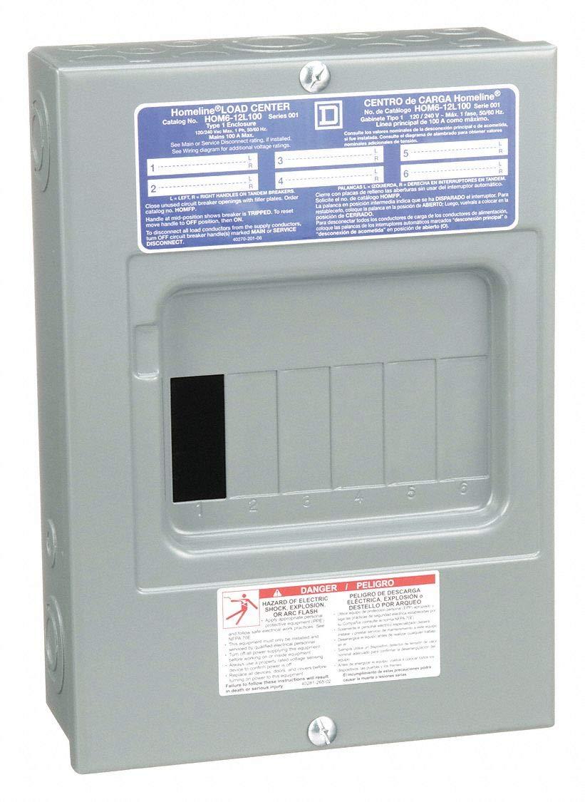 Square D Load Center Main Lug 100 Amps 120 240vac Voltage