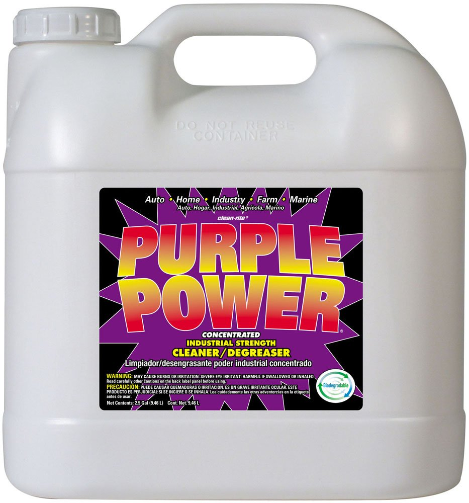 Purple Power (4322P) Industrial Strength Cleaner and Degreaser - 2.5 Gallon (Pack of 1) by PURPLE POWER
