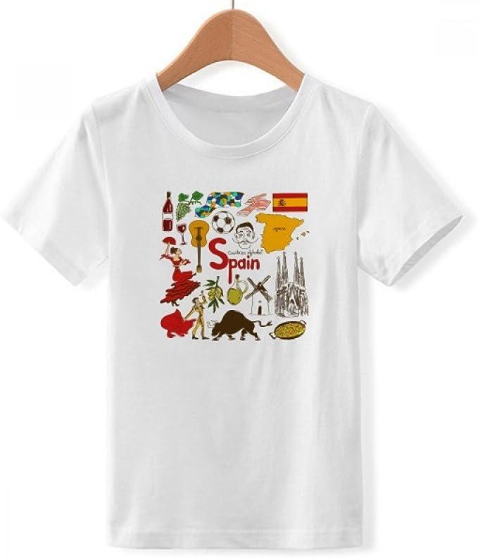 DIYthinker España Paisaje Animales Bandera Nacional de Cuello ...