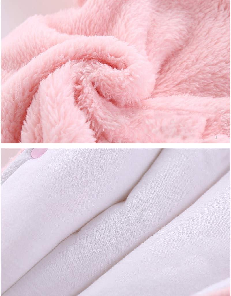 JiAmy Beb/é Traje de Nieve Ropa de Invierno Mameluco con Capucha Fleece Pelele Manga Larga Blanco 0-3 Meses
