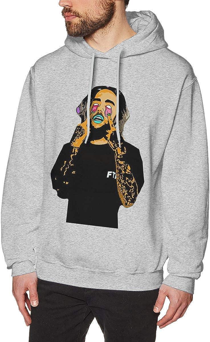 Mens Hooded Sweatshirt Suicide Boys Original Retro Literary Design Gray