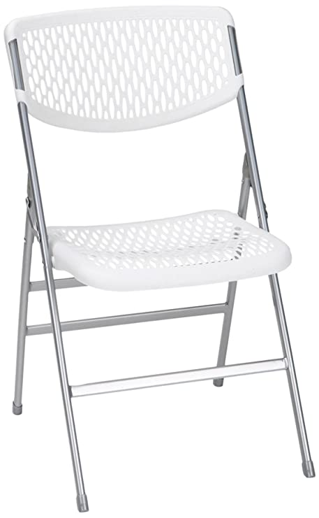 Brilliant Cosco Commercial Resin Mesh Folding Chair White 4 Pack Creativecarmelina Interior Chair Design Creativecarmelinacom