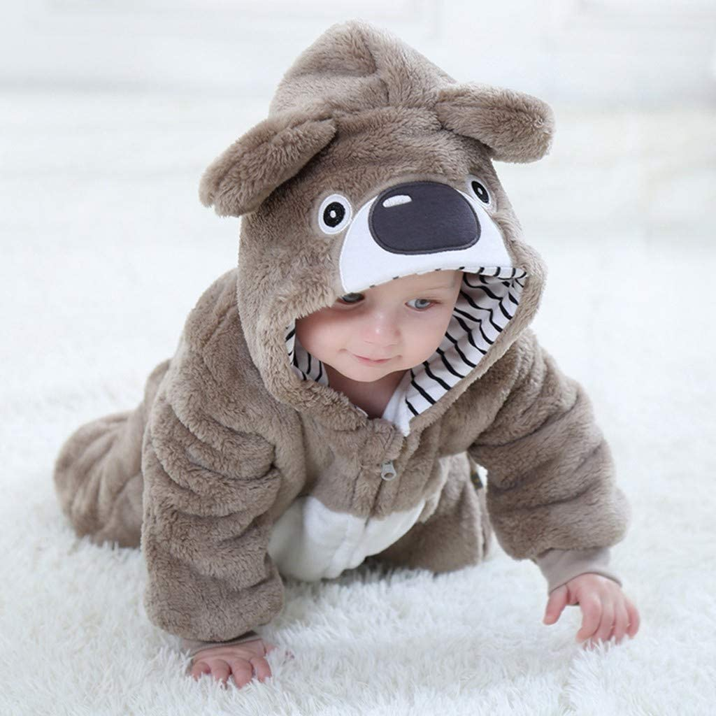 YESOT Fashion Unsex Jumpsuit Baby Toddler Cute Animals Cosplay Boys Girls Cute Cartoon Pajamas Bodysuit Romper