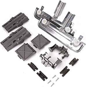 W10712395 Dishwasher Rack Adjuster Kit for Whirlpool, Kenmore and KitchenAid Dishwashers- Replace W10250159, W10350375, W10350375, W10712395VP, AP5957560, PS10065979