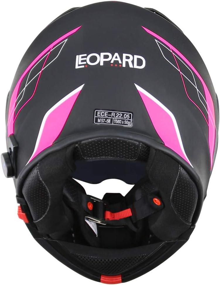 Leopard LEO-727 Anti-Fog Visier Bluetooth Klapphelm Motorradhelm Integralhelm Headset,H/ände frei,Ger/äuschfrei,Automatische Beantwortung