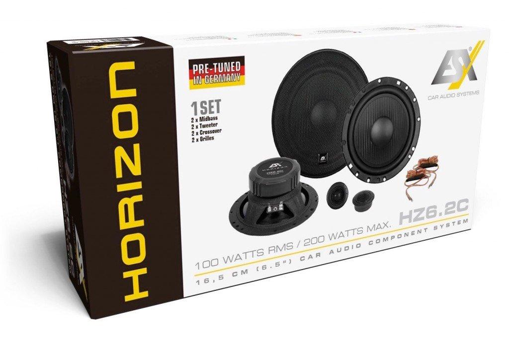 Lautsprecher Boxen ESX HZ6.2C Horizon Einbauset f/ür VW Passat 3C CC B6 B7 Front 16cm System Auto Einbauzubeh/ör JUST SOUND best choice for caraudio