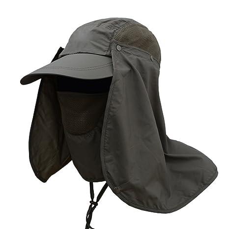 triclicks Unisex 360 ° - Ultraleicht Fischer sombrero sombrero de pescador pesca Tapa Sombrero con protector de nuca para actividades en exteriores Pesca ...