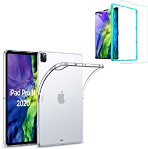 ESR Rebound Soft Shell Case with Screen Protector Kit for iPad Pro 11 2020 & 2018, Clear