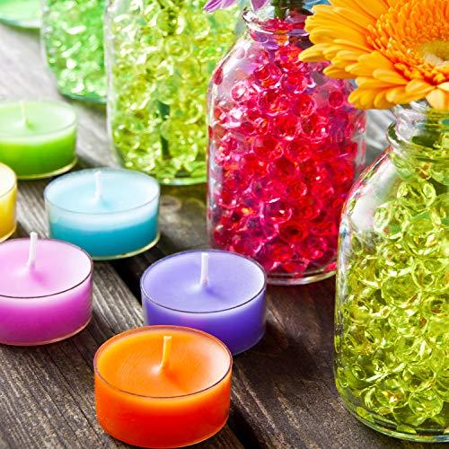 Hicarer 10000 Pieces Vase Filler Beads Gems Water Gel Beads Growing Crystal Pearls Wedding Centerpiece Decoration Orange