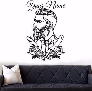 Etiqueta De La Pared Peluquería Tattoo Hipster Nombre ...