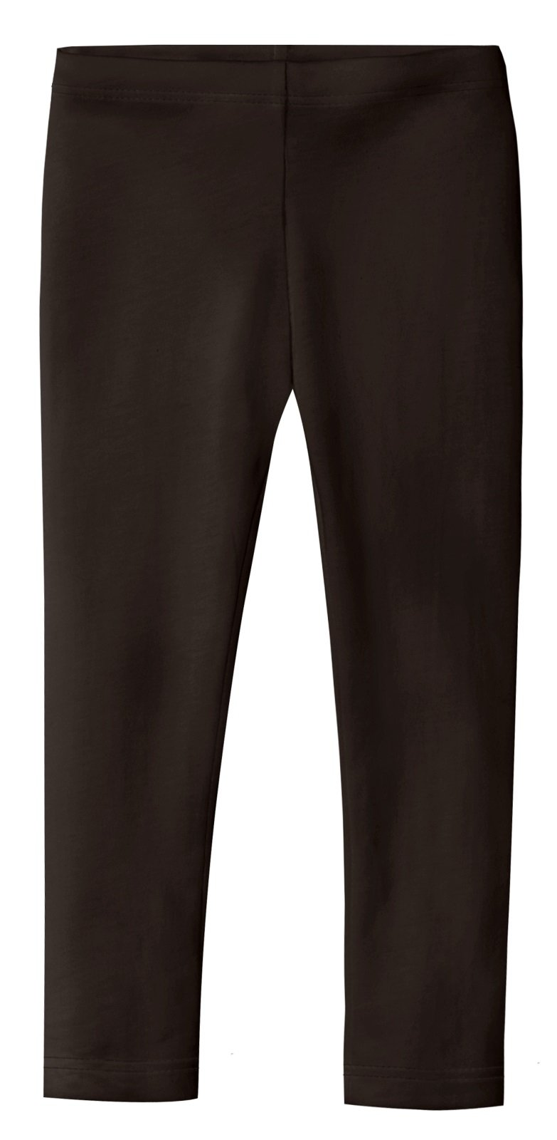 City Threads Girls' Leggings 100% Cotton for School Uniform Sports Coverage Play Perfect for Sensitive Skin SPD Sensory Friendly Clothing, Chocolate, 10