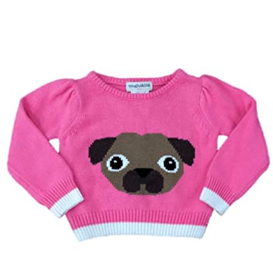 d95f83d8b Amazon.com  Toughskins Infant Girls Pink Puppy Dog Pullover Sweater ...