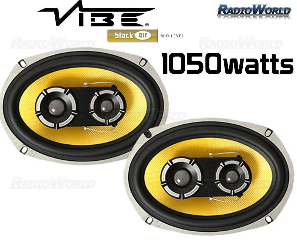 Vibe 6x9' 6 x 9 Car speakers door/rear shelf 3 Way Blackair 1050W