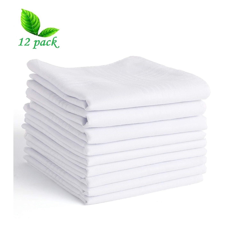 Scotamalone Men's Handkerchiefs 100% Cotton Classic Hankies-12 Pack 2474953011