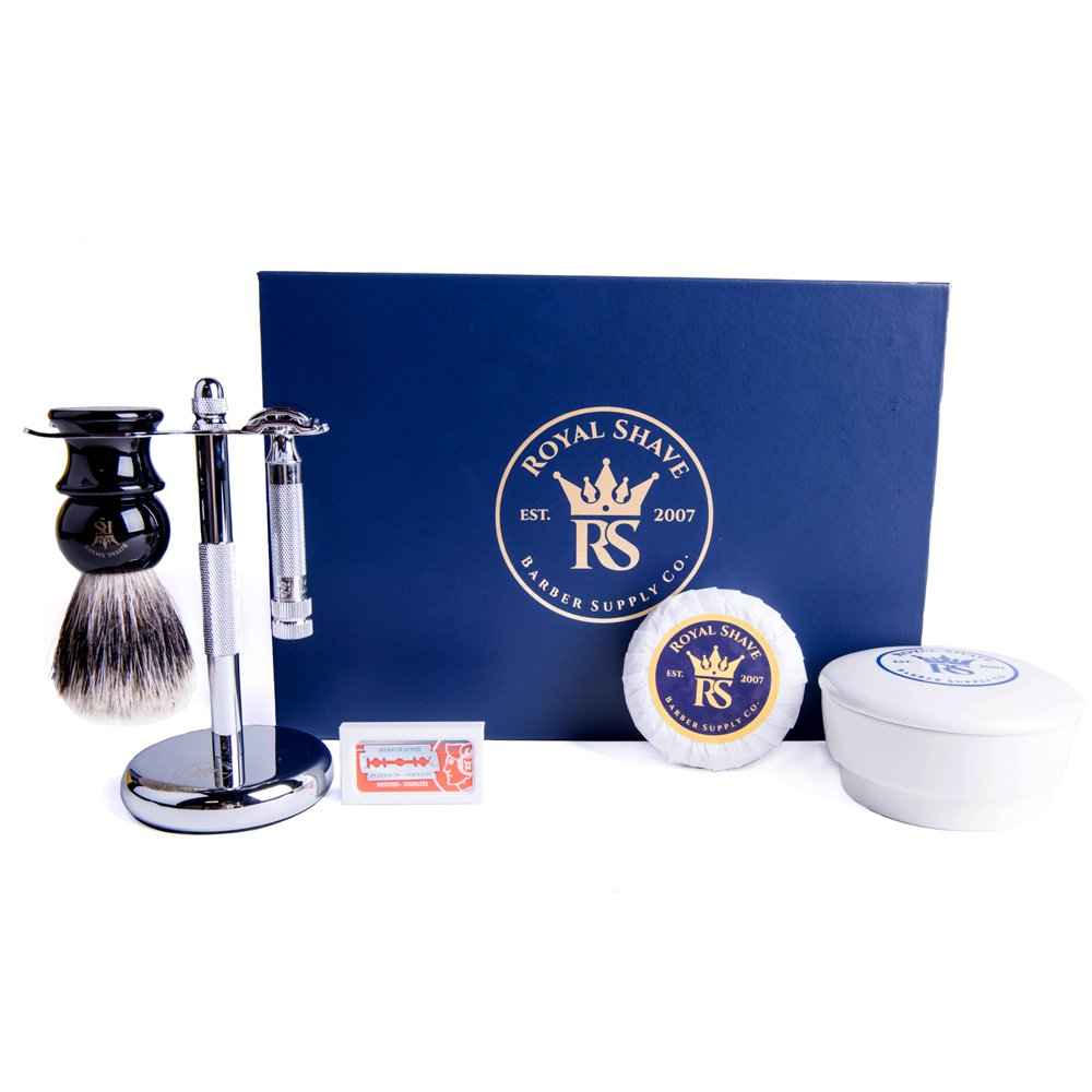 RoyalShave Merkur 34C Chrome Safety Razor Set