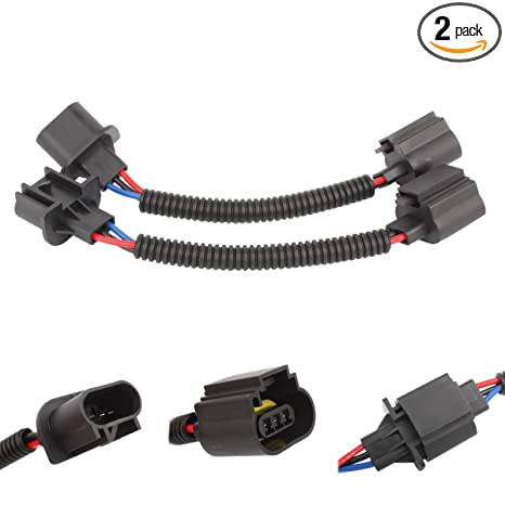TOMALL H13 9008 LED Headlight Extension Wiring Harness Connector Socket on