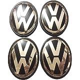 wangten ホイールカバー VW フォルクスワーゲン センターキャップ ハブキャップ ホイールセンターカバー ホイールセンターキャップ 65mm 4枚セット