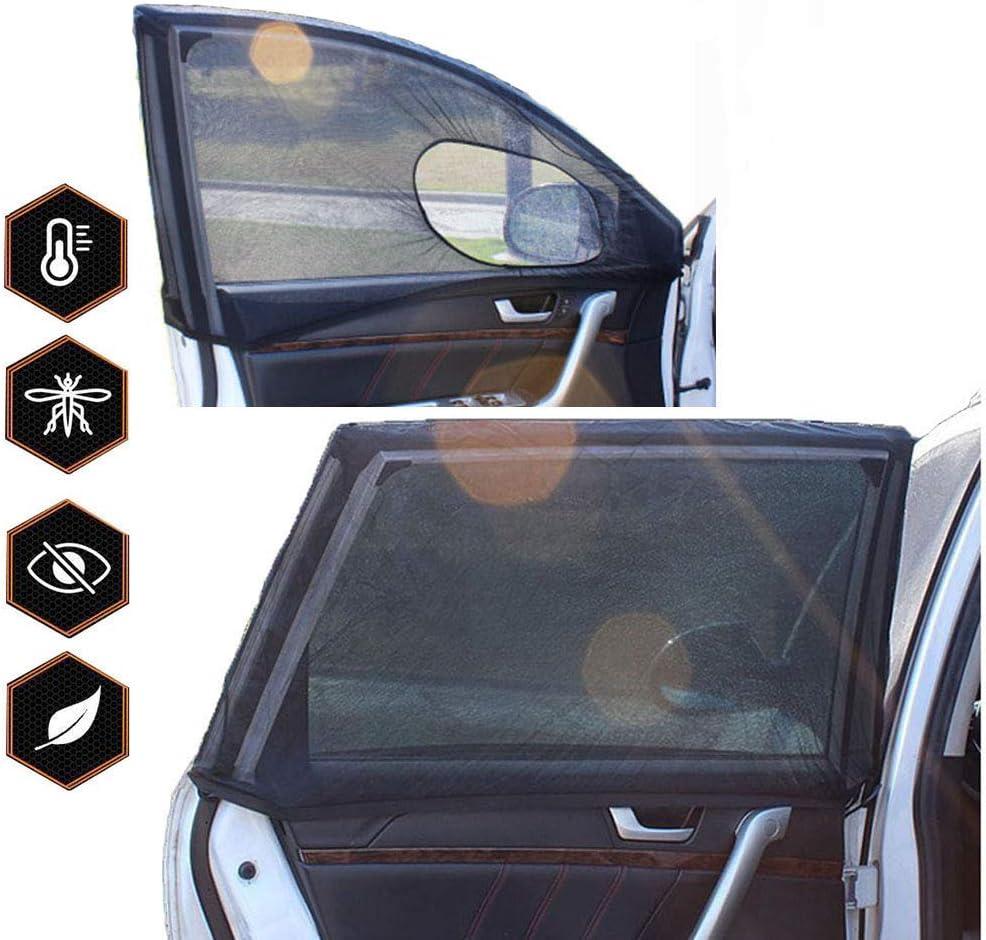 2pcs ZONSUSE Auto Verdunkelungsvorh/änge Sonnenblenden f/ür Baby Mit UV Schutz hochtemperaturbest/ändig und langlebig Sonnenschutz Netz Anti-Moskitonetz 120 * 60 * 55cm with Holes