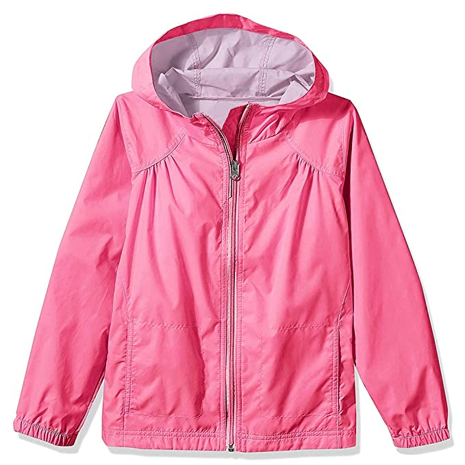 ef15848d3 Amazon.com  Jessie Kidden Kids Girls Raincoat Rain Jacket