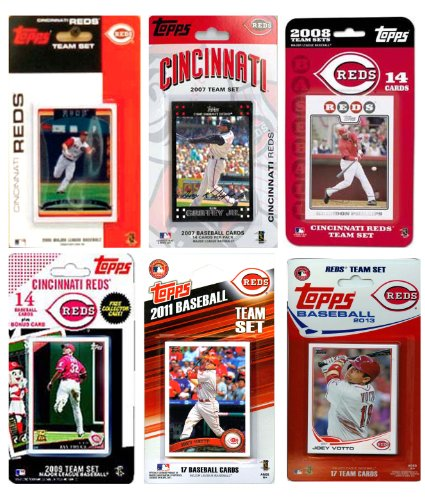 MLB Cincinnati Reds 6-Different Licensed Trading Card Team Set from C&I Collectables